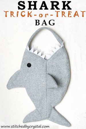 Trick or Shark Treat Bag