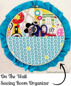 On The Wall Sewing Room Organizer