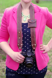 Basic and Brilliant Leather Camera Strap
