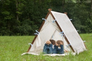 Collapsible Fabric Play Tent