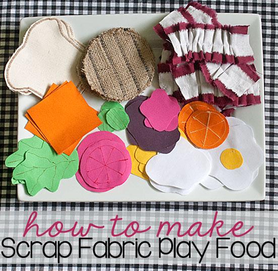 Scrap Fabric Play Food