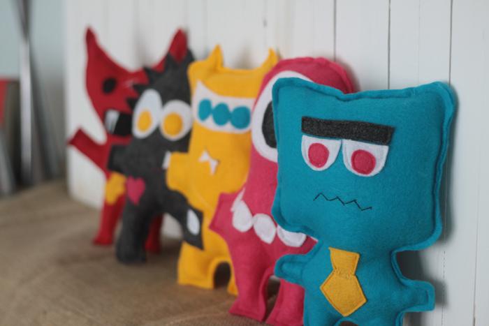 Felt Monster Dolls