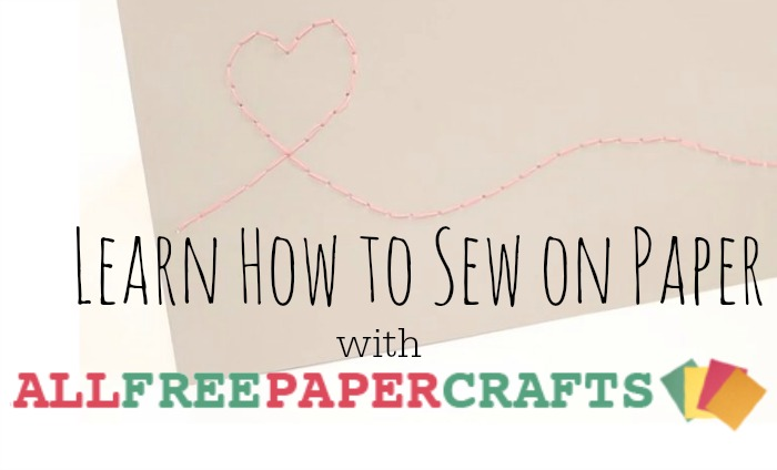 How to Sew on Paper