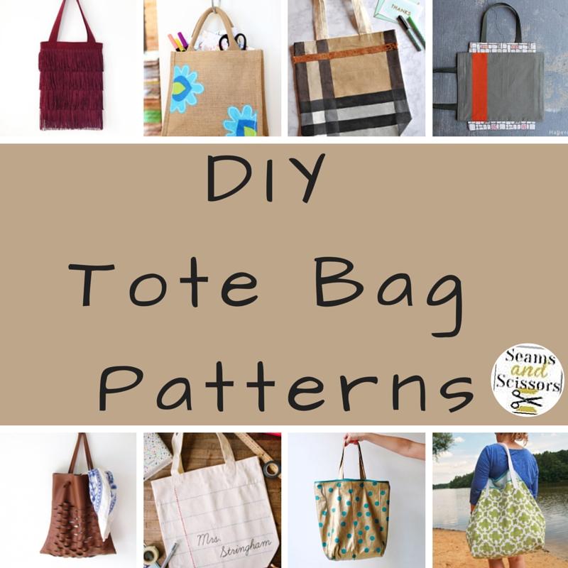 What We Loved This Week: 15 DIY Tote Bag Patterns - Seams And Scissors