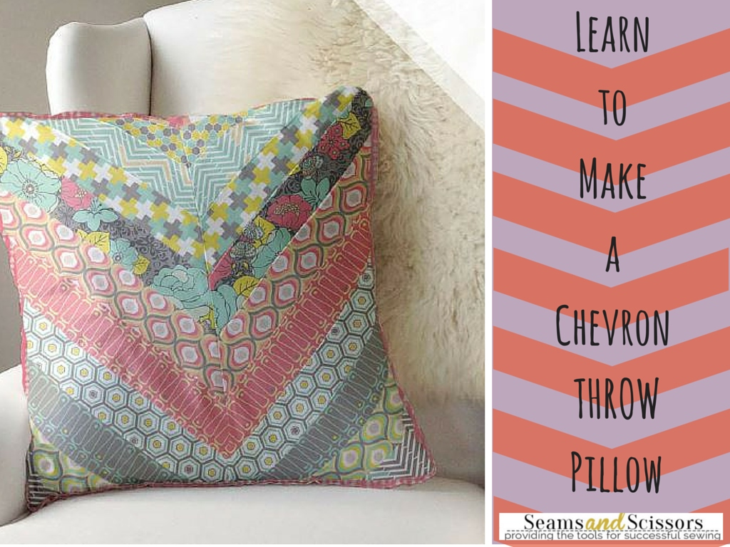 Sew Decorative Pillow Fabric : How to Make a Throw Pillow: Free Chevron Pattern from Camelot Fabrics - Seams And Scissors