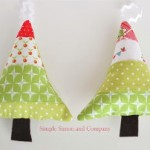 Fabric Scraps Tree Ornaments