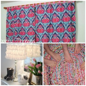 DIY Curtains, Lamp, and Rug