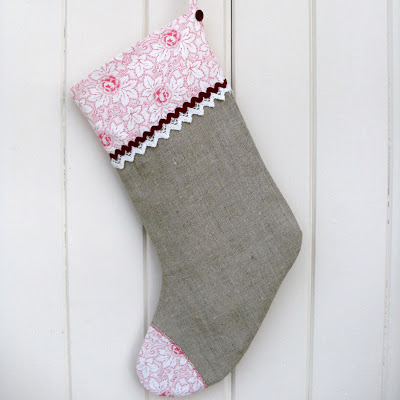 Rustic Christmas Stocking