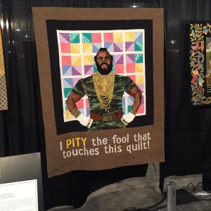 Mr T Quilt at Quilt Market 2015