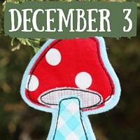 Sewn Mushroom Ornament
