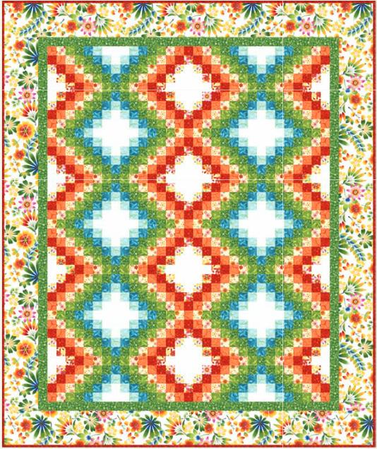 Happy Garden Bargello Quilt Pattern