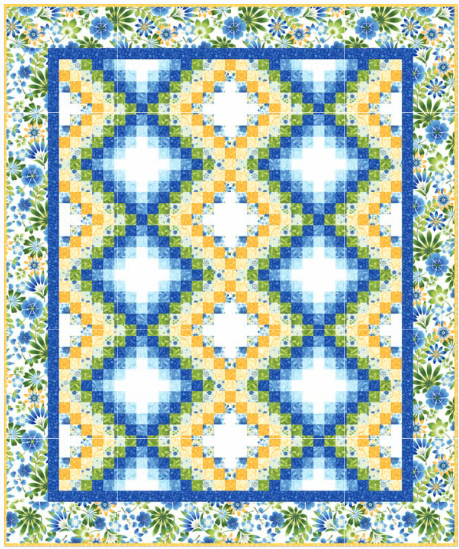Free Quilt Pattern: Happy Garden Bargello from Kona Bay Fabrics - Seams And Scissors
