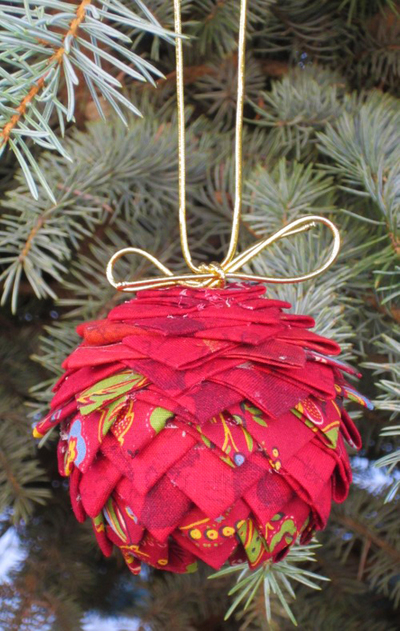 Prairie Pinecone Christmas Ornament