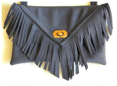 Fancy Fringe DIY Clutch