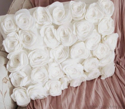 DIY Rose Throw Pillow