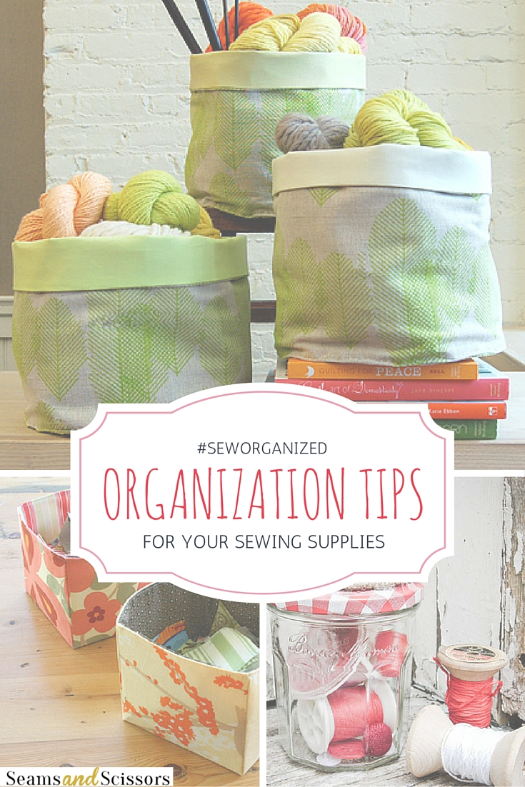 Organization Tips for Sewing Supplies