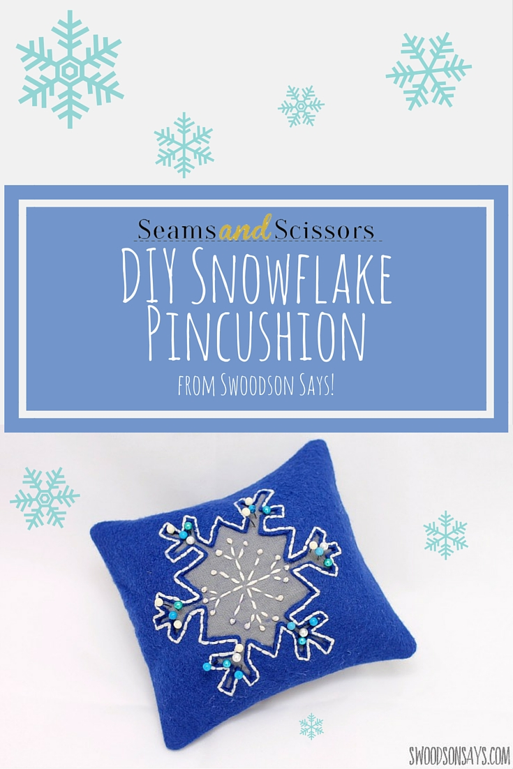 DIY Snowflake Pincushion