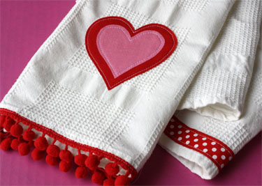 Valentine's Day Tea Towel