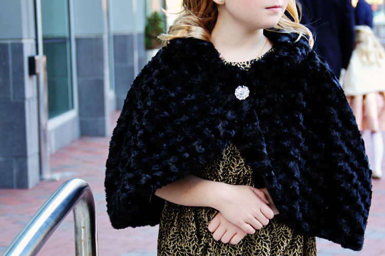 Easy DIY Fur Cape
