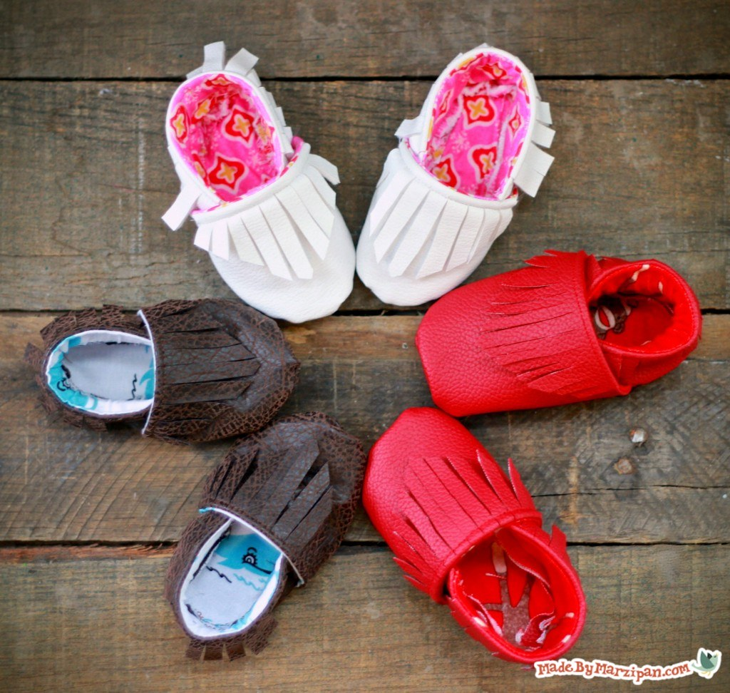 Adorable Moccasin Baby Booties