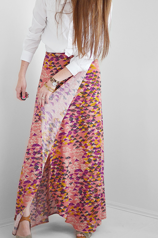 DIY Maxi Skirt Tutorial: Full-Coverage Wrap Skirt - Seams And Scissors