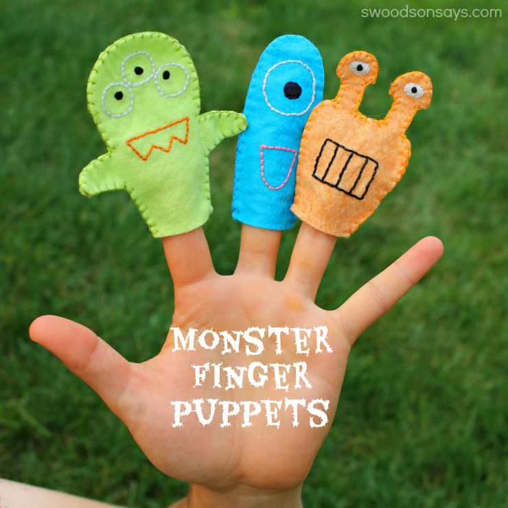 Sewing for Kids: Monster Finger Puppets Pattern - Seams And Scissors
