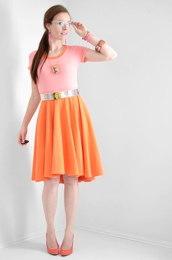 High-low Circle Hem Skirt