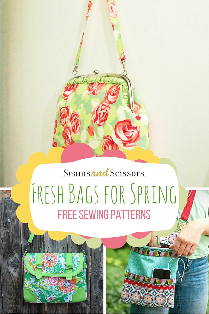 Fresh Bags for Spring: Free Sewing Patterns