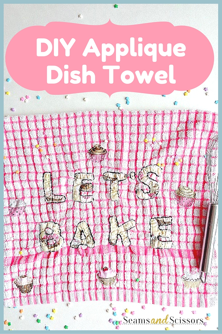 DIY Applique Dish Towel