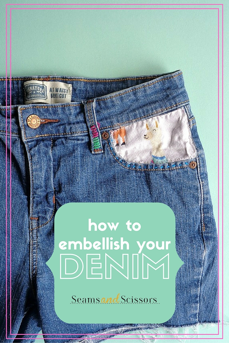How to Embellish Denim Shorts