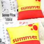 summer pillow tutorial on seams and scissors