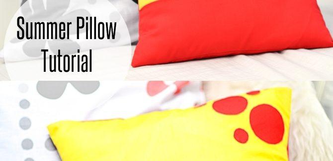 Summer Pillow Sewing Tutorial