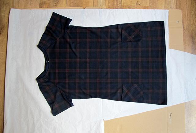 lagen karton patroonpapier kledingstuk