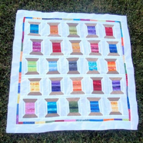 Rainbow Shuffle Spool Quilt