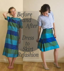 Dress-to-Skirt-Refashion