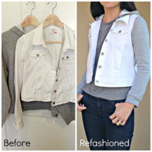Refashion-a-Jean-Jacket-with-Sweatshirt-Sleeves-and-Hoodie