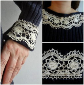 Stunning-Lace-Sweater-Refashion