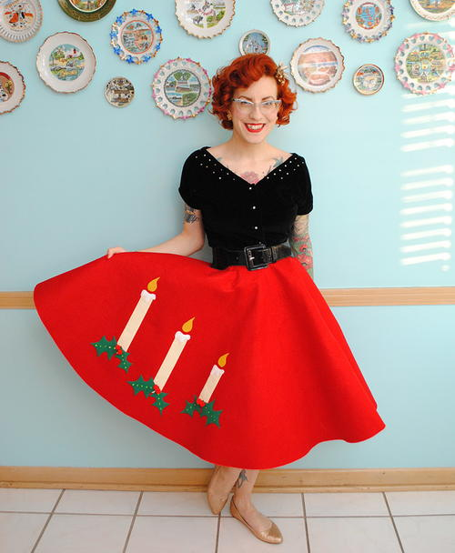 Very Retro Christmas Skirt