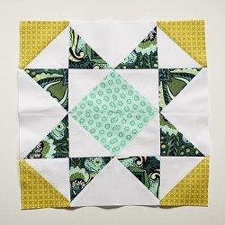 Sawtooth Star Quilt Block Pattern