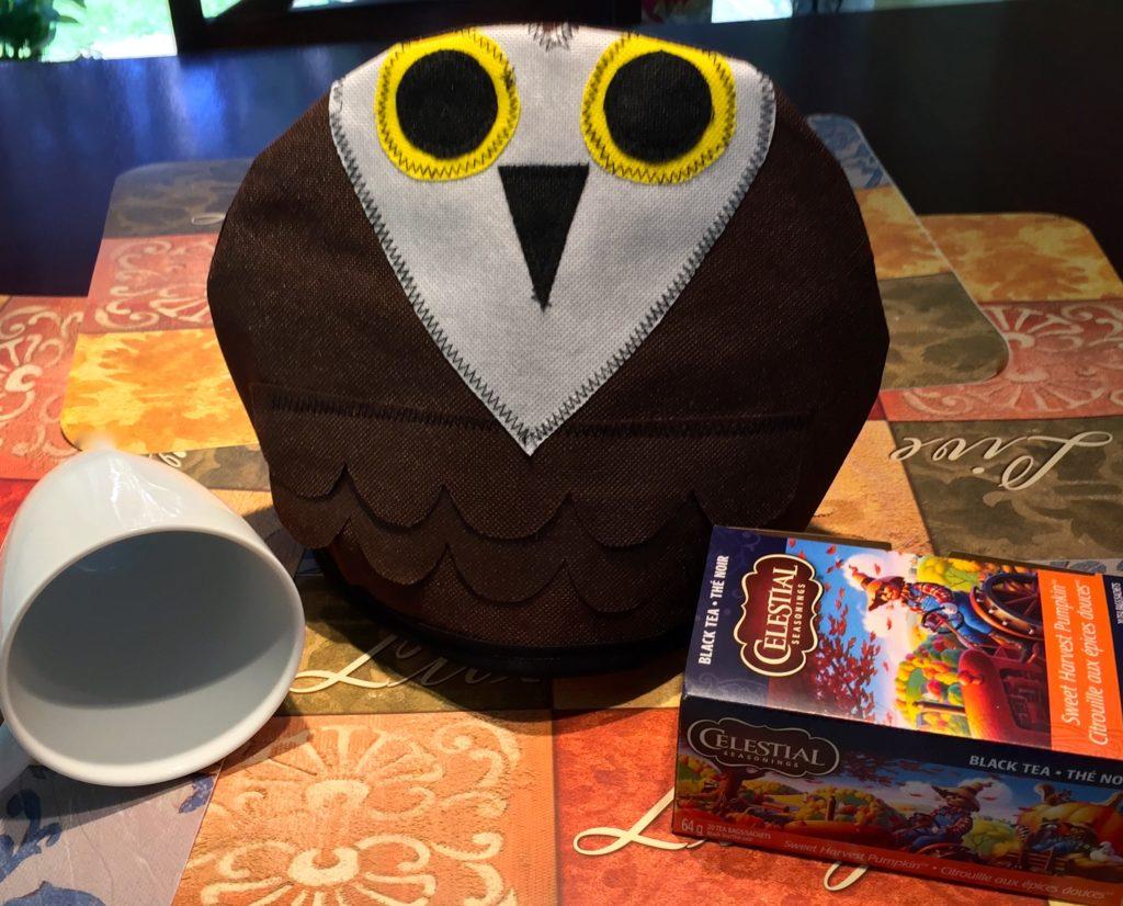 """Owl Fall for Autumn"" Reversible Tea Pot Cozy"