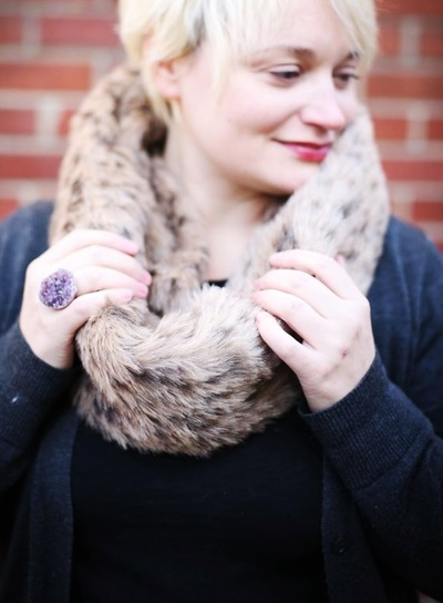 Simple Faux Fur Infinity Scarf