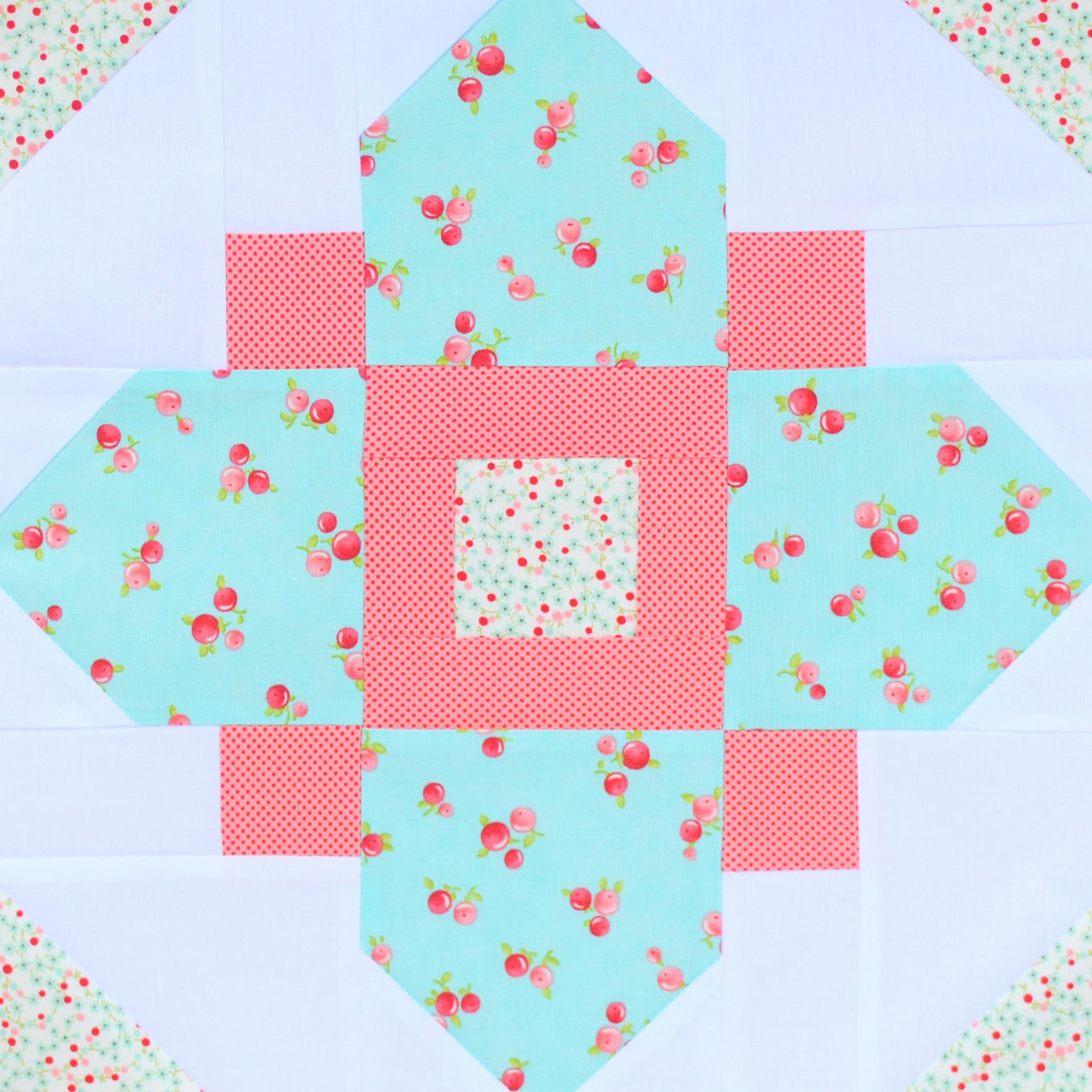 Quatrefoil Quilt Block Pattern