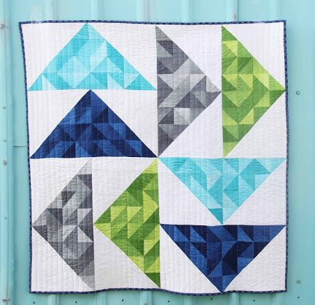 Dutch Ombre Baby Quilt Tutorial