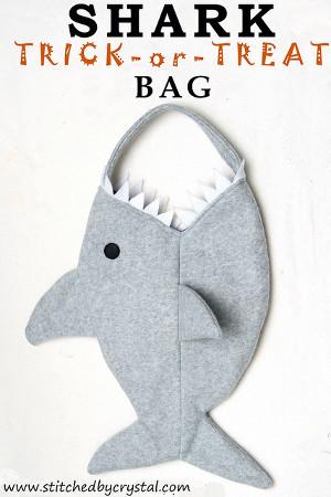 Trick or Shark Treat Bag