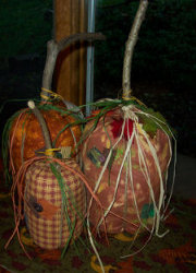 Fabric Country Pumpkins