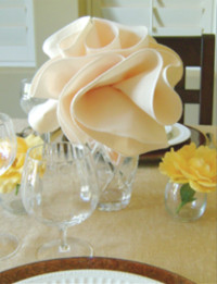 Flower Shaped Napkins from Domestic Diva