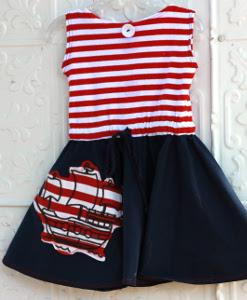 Ahoy Mateys Circle Skirt Dress