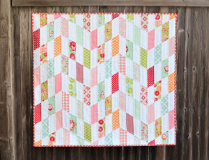 Striped Chevrons Baby Quilt