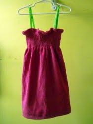 Shirred Beach Towel Dress