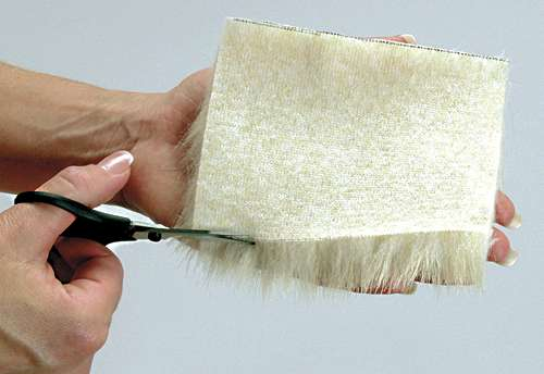 Cutting Faux Fur from Sew 4 Home